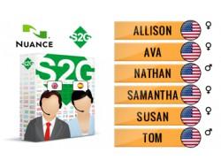S2G + 6 głosów Nuance angielskich amerykańskich