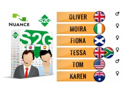 S2G + 6 głosów Nuance angielskich