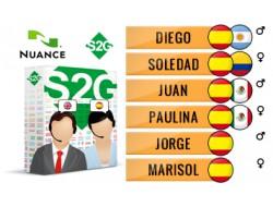 S2G + 6 głosów Nuance hiszpańskich
