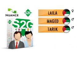 S2G + 3 głosy Nuance arabskie