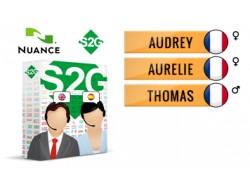 S2G + 3 głosy Nuance francuskie
