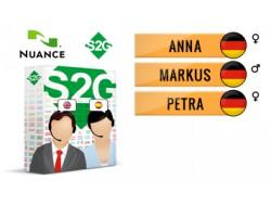 S2G + 3 głosy Nuance niemieckie