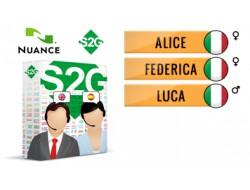 S2G + 3 głosy Nuance włoskie