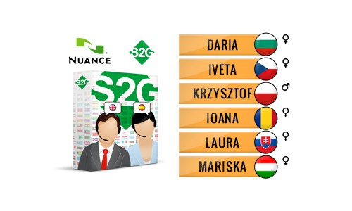 S2G + 6 Central European Nuance Voices